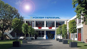 Entrance of the Fokker Terminal